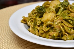 brocolli pasta pesto