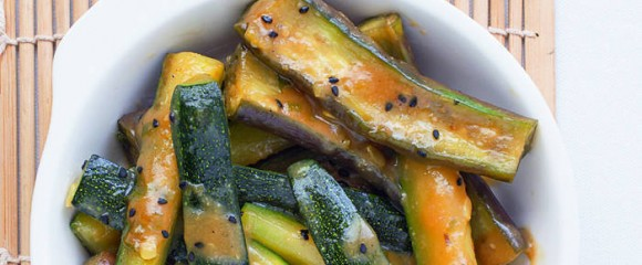 teriyaki courgette